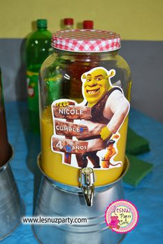 Lesnuzparty cumple Shrek batido - Shrek party themed