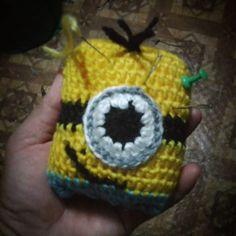 #needleholder  #pinholder  #crocheting  #iloveyarn  #ilovecrochet  #instacrochet  #instagrammers  #cute #diy #handmade  #crochetaddict  #hooker  #craftyhands  #minions  #minionlover #needle by jomarhil_14