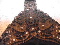 ANTIQUE VINTAGE ORIGINAL VICTORIAN MOIRE SILK HANDBAG FRETWORK DIAMANTE DETAIL in Clothes, Shoes & Accessories, Vintage Clothing & Accessories, Vintage Accessories | eBay