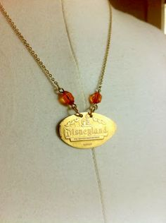 Custom Disneyland pressed penny necklace