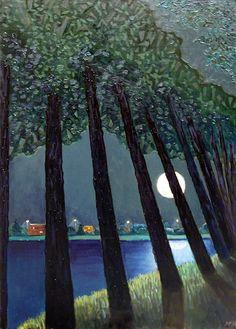 Ruben Monakhov. The Full Moon. Oil on canvas, 80х100 cm.,  2014.  http://rubenm.spb.ru