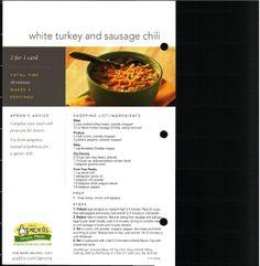 White Turkey and Sausage Chili
