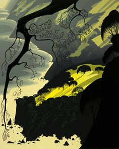 Eyvind Earle - Carmel Highlands  Where I would be if I could