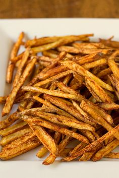Easy Homemade French Fries - I like mine extra crispy so I always double-fry them for the best crispiness :)