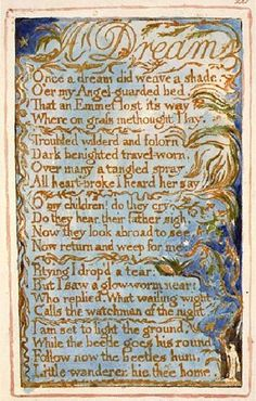 William Blake and his poem Dream as i thought following the poem i ...