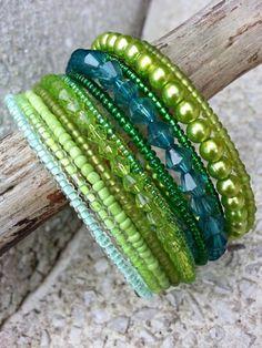 Brčálník šperk šperky náramek rokajl náramky perle soupravy paměťový náramek