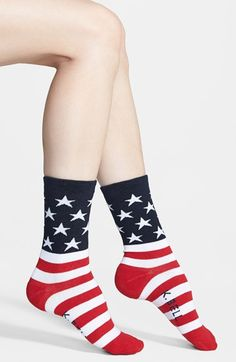 K Bell Socks K. Bell Socks 'American Flag' Crew Socks available at #Nordstrom