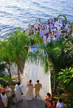 Puerto Vallarta destination wedding, Le Kliff restaurant - 005