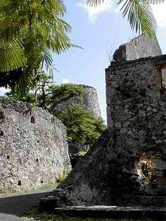 The Annaberg Sugar Mill Ruins in Virgin Island National Park on St. John.