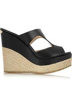 97809258836eb2 Pledge  leather  wedges  sandals  summer  holidays  women  covetme