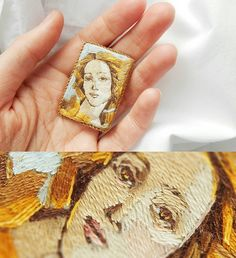 "960 Likes, 30 Comments - Lera Petunina Embroideries (@lera.petunina) on Instagram: ""Брошь по картине Сандро Боттичелли ""Рождение Венеры"" Ручная вышивка, деревянная основа,…"""
