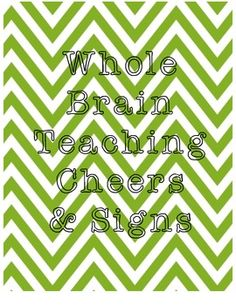 Whole Brain Teaching Cheers