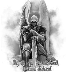 Create a modern take on St. Michael the Archangel for my tattoo Tattoo contest design Angel Warrior Tattoo, Guardian Tattoo, Demon Tattoo, Warrior Tattoos, Norse Tattoo, Celtic Tattoos, Samurai Tattoo, St. Michael Tattoo, Archangel Michael Tattoo