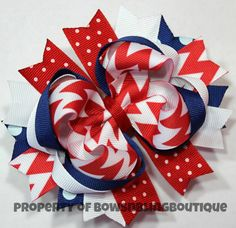 Hey, I found this really awesome Etsy listing at http://www.etsy.com/listing/151736271/4th-of-july-hair-bows-red-white-and-blue