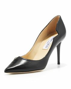 Lyric Leather Cutout Pump, Black by Jimmy Choo at Neiman Marcus.