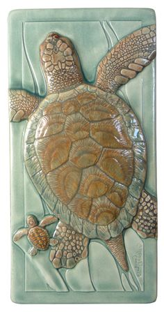 ceramic tile, Daddy's Girl, sea glass glaze, wall decor 4 x 8 inches by MedicineBluffStudio on Etsy
