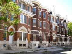 History and evolution of Baltimore Rowhouses