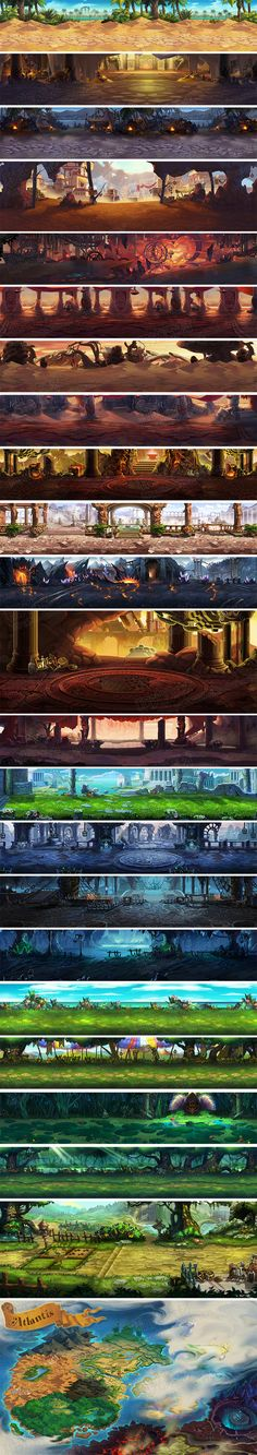 Game of the original painting Resources / hand travel scene 2D resources / Warriors rule ...