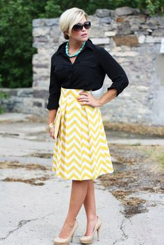 Chevron skirt....outfit