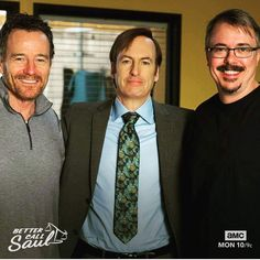 with Bob Odenkirk & Vince Gilligan The Audrey Hepburn Story, Older Actresses, Jeremy Allen White, Vince Gilligan, The Music Man, Greys Anatomy Memes, Bryan Cranston, Cameron Monaghan, Walter White