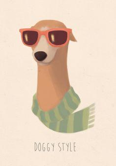Poster Doggy Style do Studio Ninamillen por R$50,00