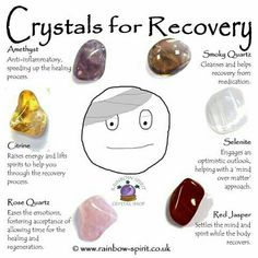 Crystals for recovery from illness, injury or surgery  xoxox