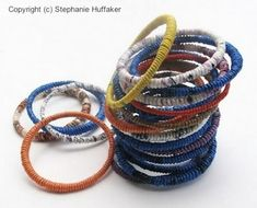 Recycling plastic bags and bottles into bangles