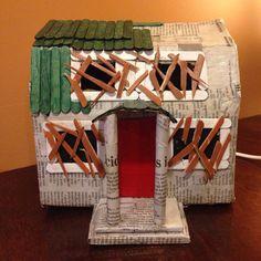 A Nightmare On Elm Street 3 paper mache house night light replica