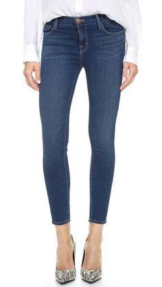 NEW J BRAND JEANS 835 Mid Rise Skinny Cropped Capri Denim in Blue Code Size 26 #JBrand #CapriCropped