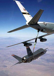 Prueba de reabastecimiento en vuelo del X-35A.
