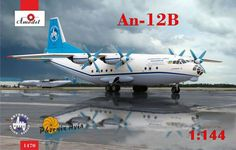 Antonov An-12B, International Cargo Transporter. A Model, 1/144, injection, No.1470. Price: 23,22 GBP.
