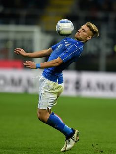 Ciro Immobile of Italy in action during the International Friendly Match between Italy and Germany at Giuseppe Meazza Stadium on November 15, 2016 in Milan, .