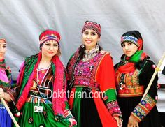 #Afghan #style #dress #National #colors #black #red #green # girls