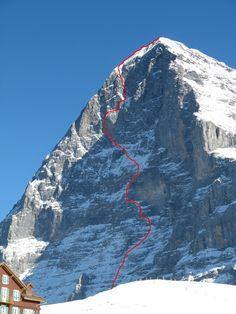 Eiger, Heckmair route, 1938