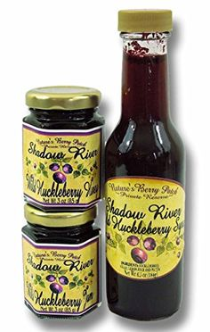 Shadow River Wild Huckleberry Gourmet Set 3 oz Jam 3 oz Honey  65 oz Syrup *** Find out more about the great product at the image link. Note: It's an affiliate link to Amazon.