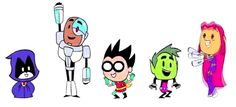 Essa é a única coisa fofa e boa que tem na nova versão dos Teen Titans! (Na minha opinião)