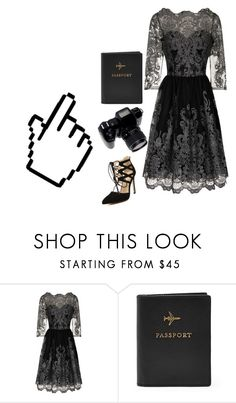 """""""Black"""" by hoodbeats-to-heartbeats ❤ liked on Polyvore featuring Chi Chi, FOSSIL and Microsoft"""