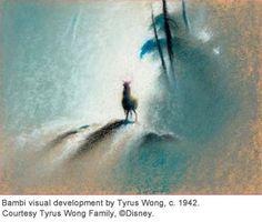 Bambi visual development by Tyrus Wong