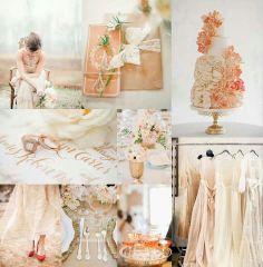 Ivory and peach colour scheme via Elizabeth Anne Designs on Facebook
