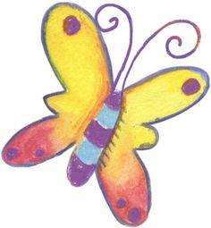 Mariposas de colores para imprimir | Imagenes para imprimir.Dibujos para imprimir