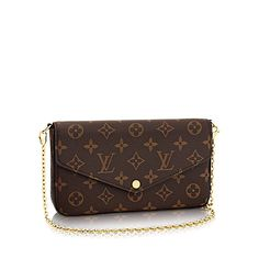 Felicie Chain Wallet +Monogram Canvas - Small Leather Goods | LOUIS VUITTON