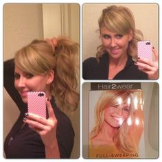 """""""I bought the side sweeping bang by Christie Brinkley. Love the #bangs. No commitment!"""" #hair2wear @Hair2wear"""