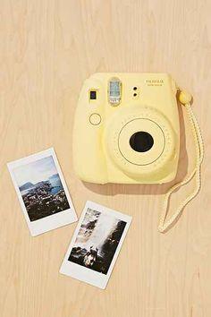 Fujifilm Instax Mini 8 Instant Camera - Urban Outfitters in yellow! Polaroid Instax Mini, Fujifilm Instax Mini 8, Polaroid Camera Fujifilm, Polaroid Instant Camera, Camara Fujifilm, Shades Of Yellow Color, Urban Outfitters, Cute Camera, Polaroid Pictures