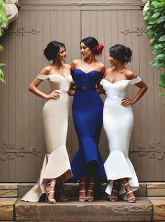Sexy Women's Mermaid Off-the-Shoulder Prom Dress, Fashion Bridesmaid