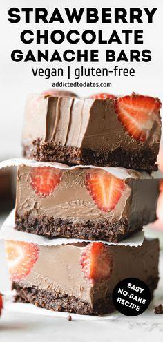 Raw Desserts, Vegan Dessert Recipes, Healthy Desserts, Vegan Baking Recipes, Vegan Gluten Free Desserts, Pastry Recipes, Chocolate Desserts, Vegetarian Recipes, Paleo