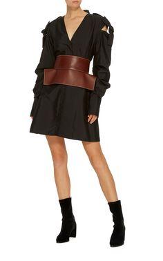 Obi Wide Leather Belt by LOEWE Now Available on Moda Operandi