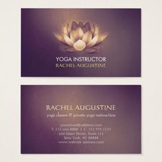 299 Best Yoga Instructor Business Cards Images On Pinterest