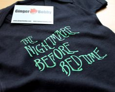 The Nightmare Before Bedtime Body Suit Baby Grow by GingerBobby