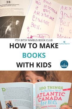 How to make books with kids, inspired by 100 Things You Didn't Know About Atlantic Canada, published by Nimbus Publishing, written by Sarah Sawler