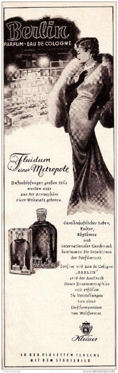 Original-Werbung/ Anzeige 1956 - PARFUM BERLIN - KLEINER - ca. 65 x 200 mm